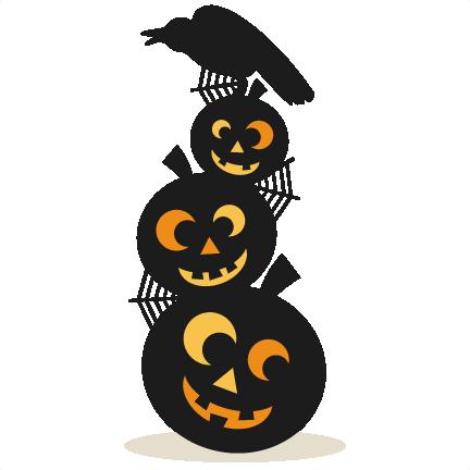 Jack O Lanterns With Bird Svg Cutting Files Pumpkin Svg