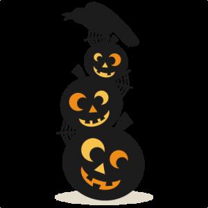 Jack-O-Lanterns With Bird SVG cutting files pumpkin svg cuts cute svg cut files cute cut files for cricut free svgs