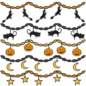 Halloween Party Banners SVG scrapbook files SVG cutting files crow svg cut file halloween cute files for cricut cute cut files free svgs