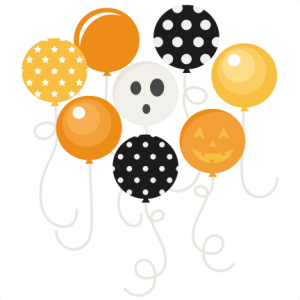 Halloween Party Balloons SVG scrapbook files SVG cutting files crow svg cut file halloween cute files for cricut cute cut files free svgs