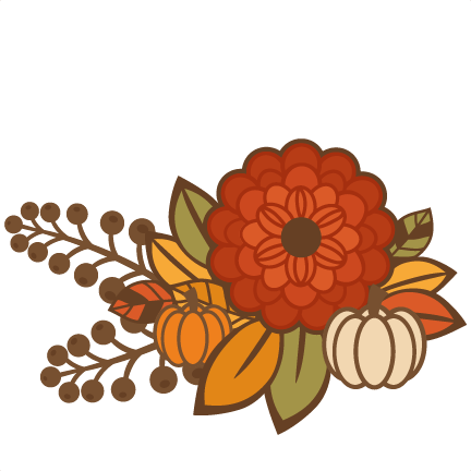 Fall Flower Group Title SVG cutting file for scrapbooking ...