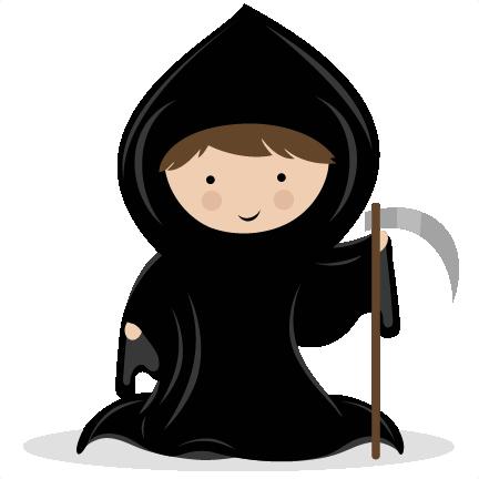 Grim Reaper Clip art SVG scrapbook cut file SVG cutting files cricut svg cut file halloween cute ...