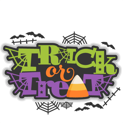 Trick Or Treat SVG scrapbook title halloween svg cut file ...