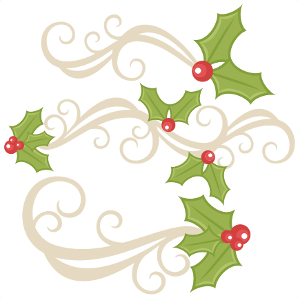 Holly Flourishes Svg Scrapbook Title Christmas Svg Cut File Christmas Svg Cut Files For Cricut Cute