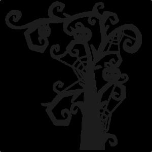 Spooky Tree SVG scrapbook title SVG cutting files halloween svg cut file halloween cute files for cricut cute cut files free svgs