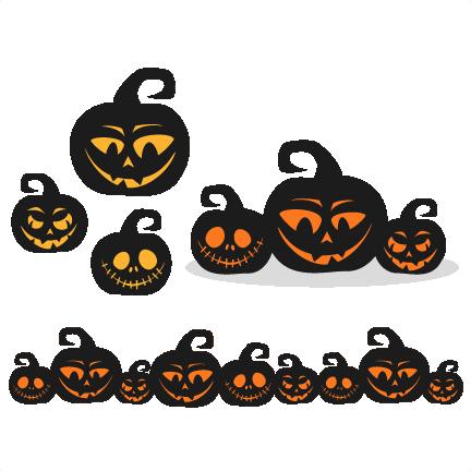 Pumpkins SVG scrapbook title SVG cutting files halloween svg cut ...