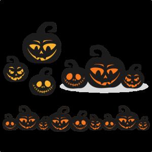 Spooky  Pumpkins SVG scrapbook title SVG cutting files halloween svg cut file halloween cute files for cricut cute cut files free svgs
