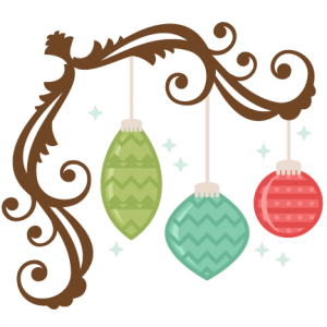 Ornaments With Flourish SVG scrapbook title christmas svg cut file christmas svg cut files for cricut cute svgs free