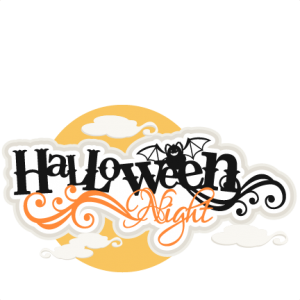Halloween Night Title SVG scrapbook title SVG cutting files crow svg cut file halloween cute files for cricut cute cut files free svgs