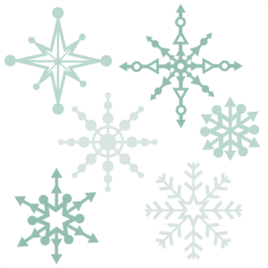 Snowflake Set SVG scrapbook title winter svg cut file winter cut file for scrapbooking cute cricut cut files