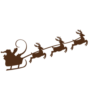 Reindeer Pulling Santa SVG cutting files for scrapbooking cute cut files christmas svg cut files free svgs