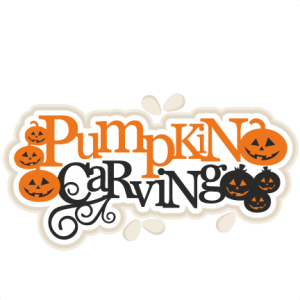 Pumpkin Carving Title scrapbook title SVG cutting files cute cut files for cricut free svgs free svg cuts cute svg files