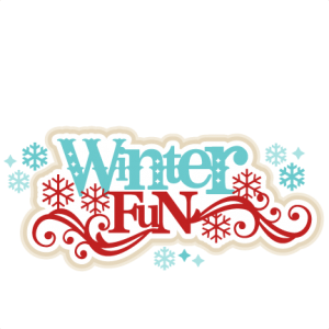 Winter Fun SVG scrapbook title winter svg cut file snowflake svg cut files for cricut cute svgs free