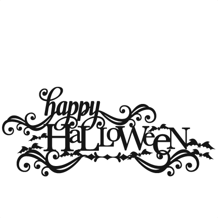 Happy Halloween Svg Scrapbook Title Svg Cutting Files Crow Svg Cut File Halloween Cute Files For Cricut Cute Cut Files Free Svgs