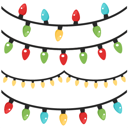 Christmas Lights Scrapbook Clip Art Cut Outs For Cricut Cute Svg Files Free Svgs