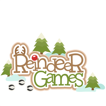 Reindeer Games Title on santa claus penguin
