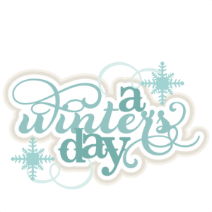 A Winter's Day SVG scrapbook title winter svg cut file snowflake svg cut files for cricut cute svgs free