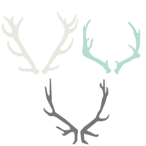 Antler Set SVG cutting files for scrapbooking cute cut files christmas svg cut files free svgs