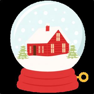 Winter House Snow Globe SVG scrapbook title winter svg cut file snowflake svg cut files for cricut cute svgs free