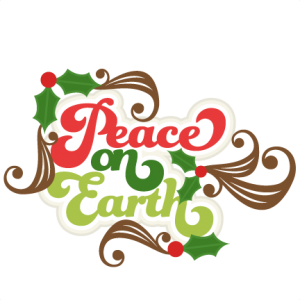 Peace on Earth Title SVG scrapbook title christmas cut outs for cricut cute svg cut files free svgs cute svg cuts