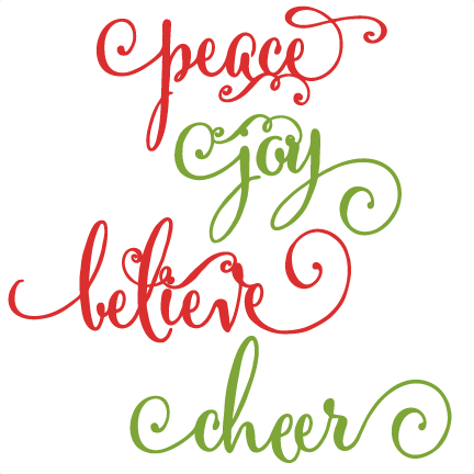 christmas words scrapbook clip art christmas cut outs for