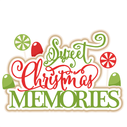 Sweet Christmas Memories title scrapbook clip art christmas cut outs ...