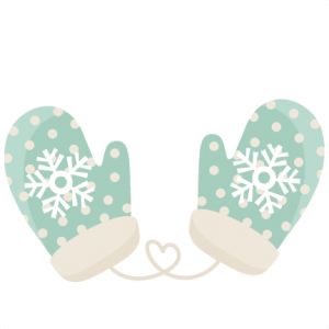 Cute Mittens SVG scrapbook title winter svg cut file snowflake svg cut files for cricut cute svgs free