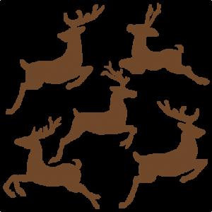 Flying Reindeer Set SVG cutting files for scrapbooking cute cut files christmas svg cut files free svgs