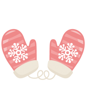 Striped Mittens SVG scrapbook title winter svg cut file snowflake svg cut files for cricut cute svgs free