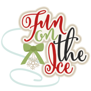 Fun on the Ice title Ice Skate SVG scrapbook shape winter svg cut file snowflake svg cut files for cricut cute svgs free