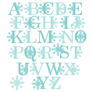 Snowflake Alphabet SVG scrapbook title winter svg cut file snowflake svg cut files for cricut cute svgs free
