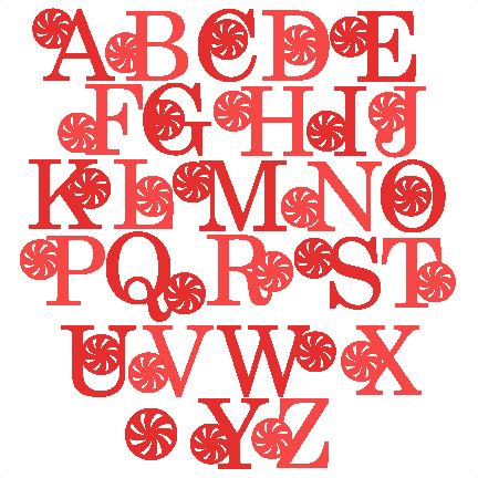 Download Peppermint Alphabet scrapbook clip art christmas cut outs ...