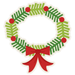 Christmas Wreath scrapbook clip art christmas cut outs for cricut cute svg cut files free svgs cute svg cuts