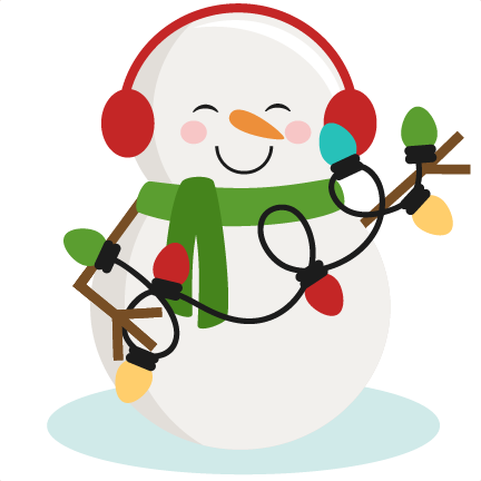 Snowman With Christmas Lights SVG cutting files for ...