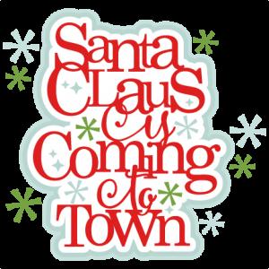 Santa Claus title scrapbook clip art christmas cut outs for cricut cute svg cut files free svgs cute svg cuts