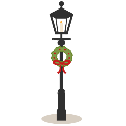 Street Lamp Scrapbook Clip Art Christmas Cut Outs For Cricut Cute Svg Files Free Svgs