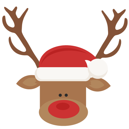 248464d2d1203 Reindeer With Santa Hat SVG cutting files for scrapbooking cute cut files  christmas svg cut files ...