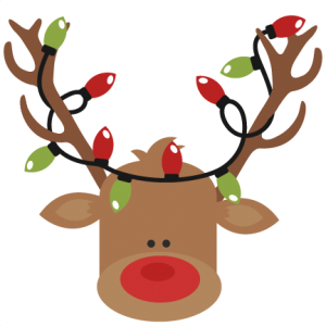 Reindeer With Christmas Lights SVG cutting files for ...