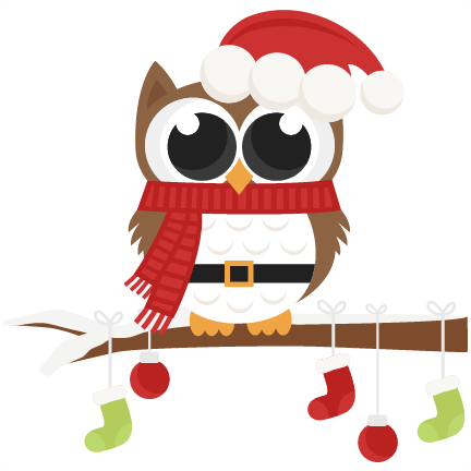 Owl scrapbook clip art christmas cut outs for cricut cute svg cut ...