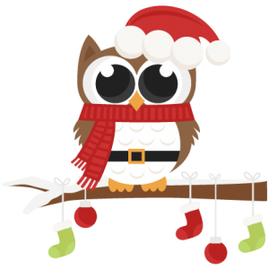 Santa Owl scrapbook clip art christmas cut outs for cricut cute svg cut files free svgs cute svg cuts