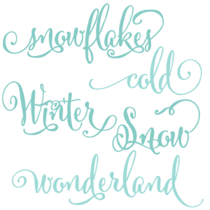 Winter Words SVG scrapbook title winter svg cut file snowflake svg cut files for cricut cute svgs free