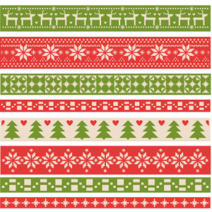 Christmas Fair Isle Borders scrapbook clip art christmas cut outs for cricut cute svg cut files free svgs cute svg cuts