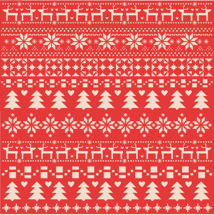 Fair Isle Christmas scrapbook paper clip art christmas cut outs ...
