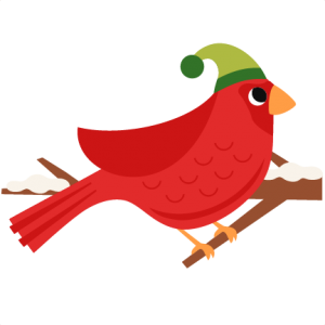 Red Christmas Bird scrapbook clip art christmas cut outs for cricut cute svg cut files free svgs cute svg cuts