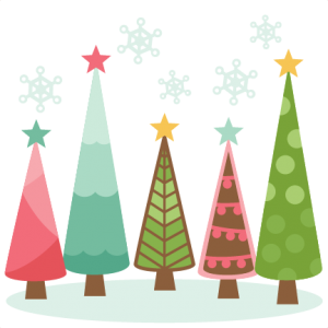 Christmas Trees scrapbook clip art christmas cut outs for cricut cute svg cut files free svgs cute svg cuts