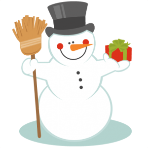 Snowman With Broom SVG scrapbook title winter svg cut file snowflake svg cut files for cricut cute svgs free