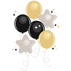 New Year's Eve Balloons svg cutting files for scrapbooking cute clip art balloon clipare free svg cut files