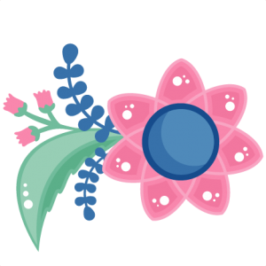 Pink Flower cut file SVG scrapbook title flower svg cut file flower svg cut files for cricut cute svgs free