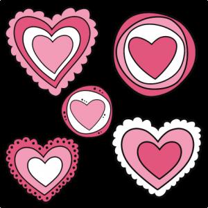 Doodle Hearts SVG cutting files doodle cut files for scrapbooking clip art clipart doodle cut files for cricut free svg cuts