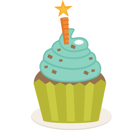 Birthday Cupcake Svg Scrapbook Birthday Svg Cut Files